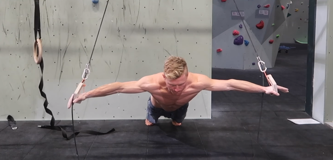 Sling training with the V-rings