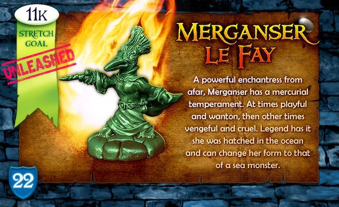 11k Stretch Goal Unleashed: Merganser Le Fay!