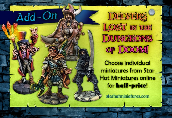 Add-On: Delvers (Warriors, Wizards, Rogues!) from the Star Hat Miniatures online store at Half-Price!