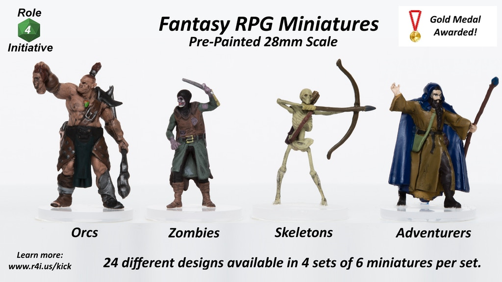 Pre-Painted Miniatures for Dungeons & Dragons or Pathfinder by Role