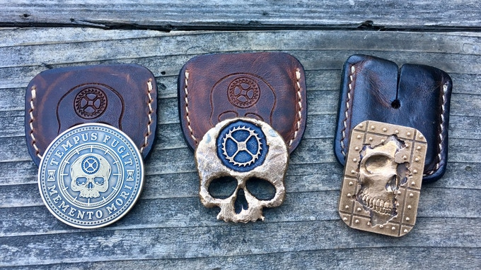 Leather sleeves for your Carpe Diem EDC pieces.