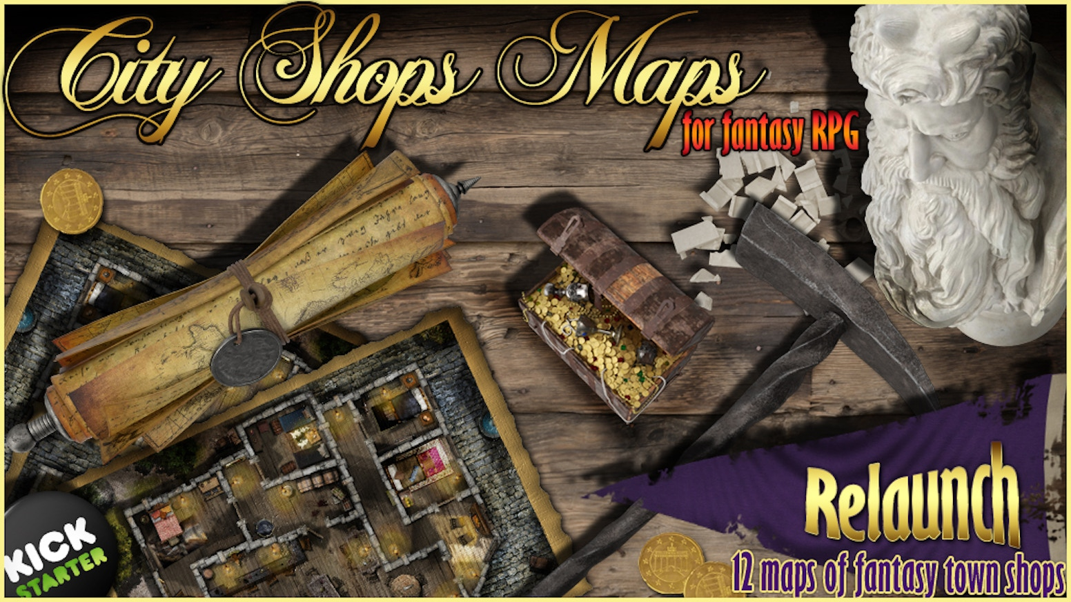 RPG Fantasy Maps The 12 Shops Relaunch by Gaudreau Steve » Your