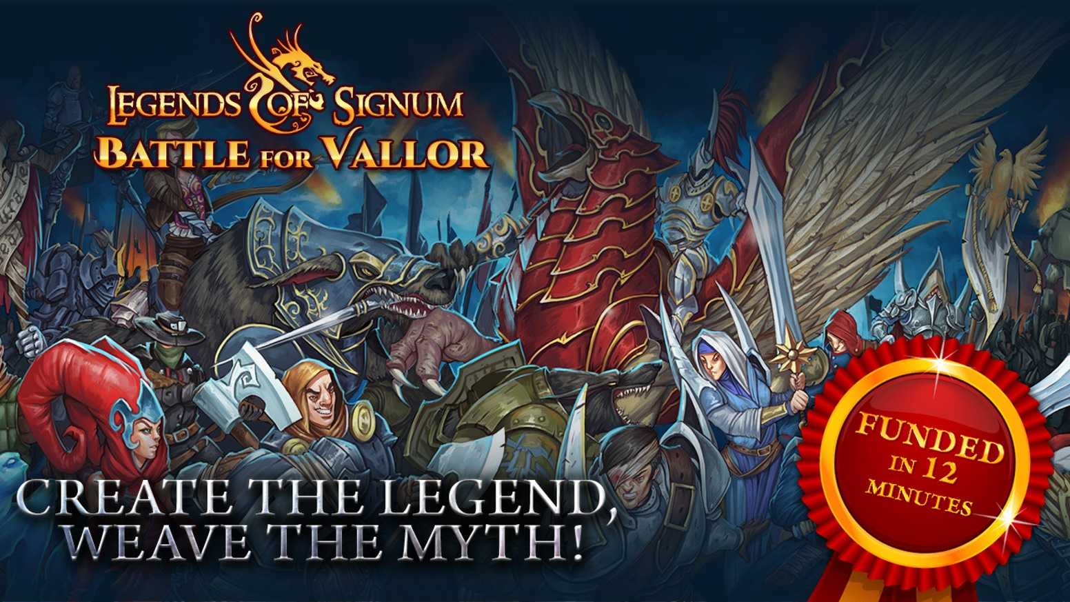 Legends of Signum is a wargame with miniatures and a collectible card game in one box.