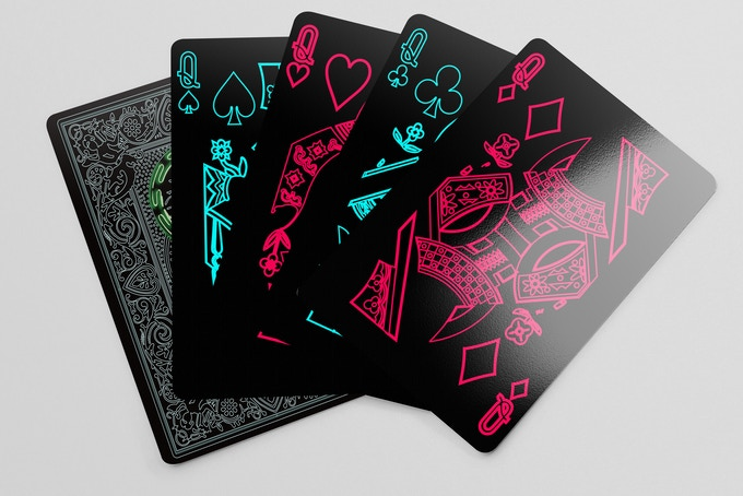 Bicycle Neon Playing Cards Save The Night Of Old Hong