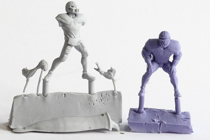 Molded figures from our test run.