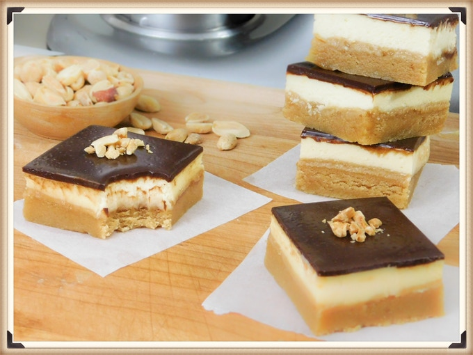 Peanut Cheese Bars may sound strange, but they're actually delicious!