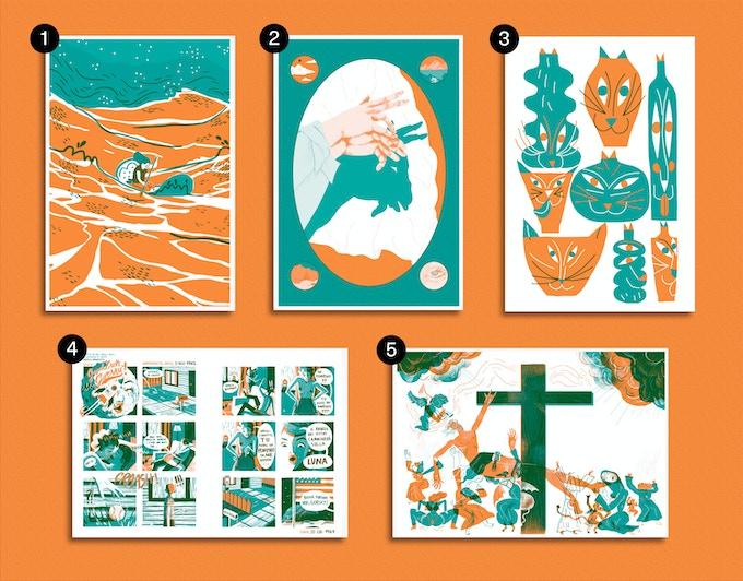 Prints A5 format