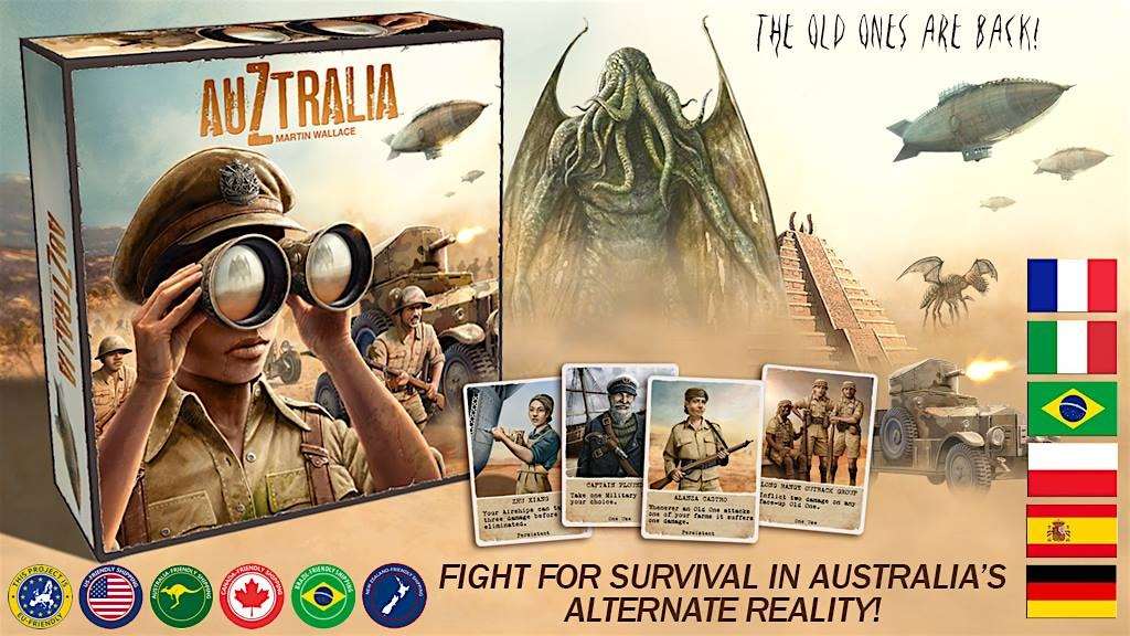 AuZtralia board game by Martin Wallace project video thumbnail