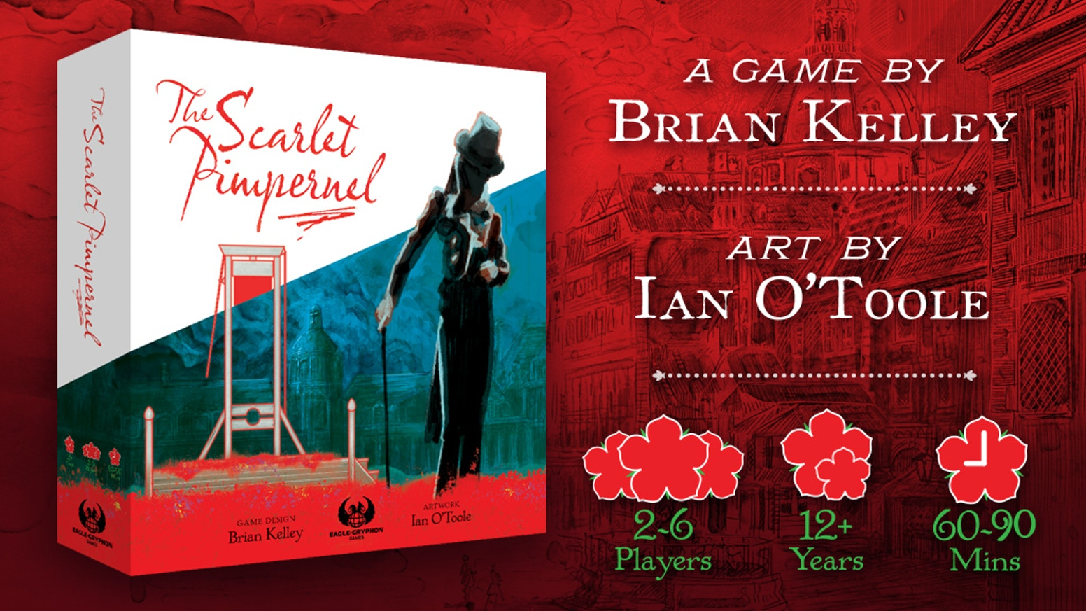 Join the Scarlet Pimpernel on his daring adventures in this beautiful new euro strategy game!