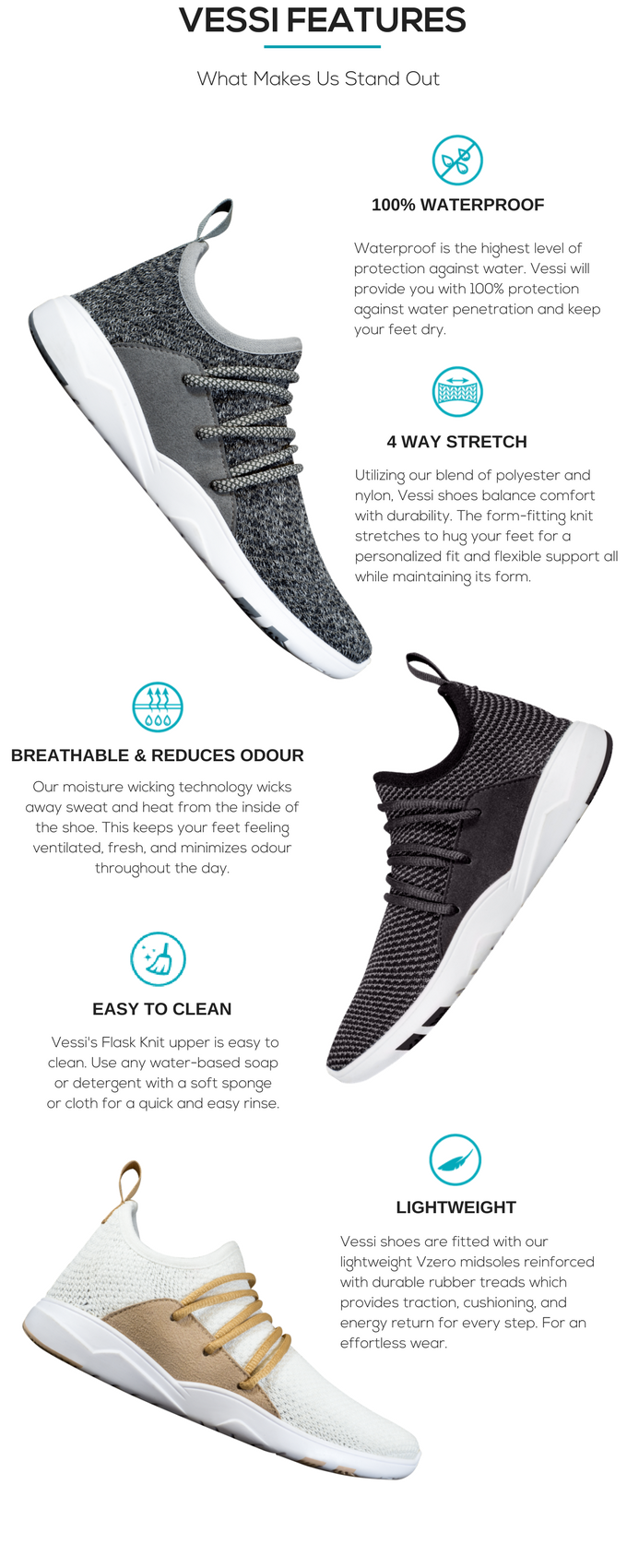Vessi - The World's First 100% Waterproof Knit Shoes by Vessi