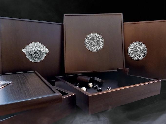 Premium Wooden Dicebox