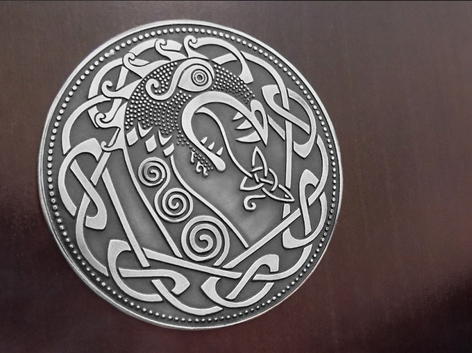 "The  ""Norse Dragon"" design"