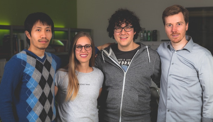 From left to right: Khanh Nguyen, CTO; Laura Schilliger, CMO; Julian Stylianou, CEO; Jakob Cevc, Head of Product