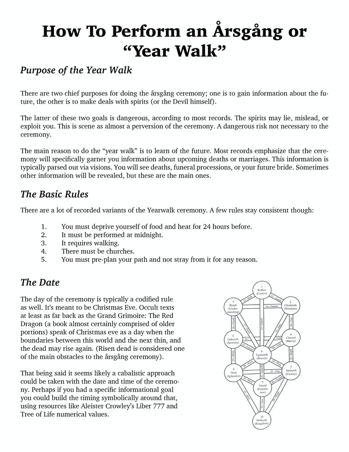 Årsgång Instructional Booklet