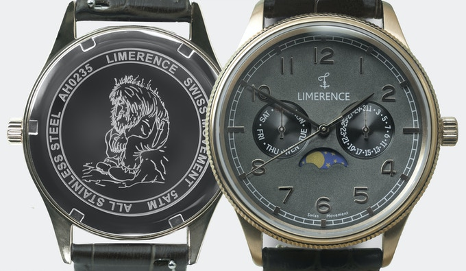 The Moonphase Troll Collection features a troll engraved on the back.