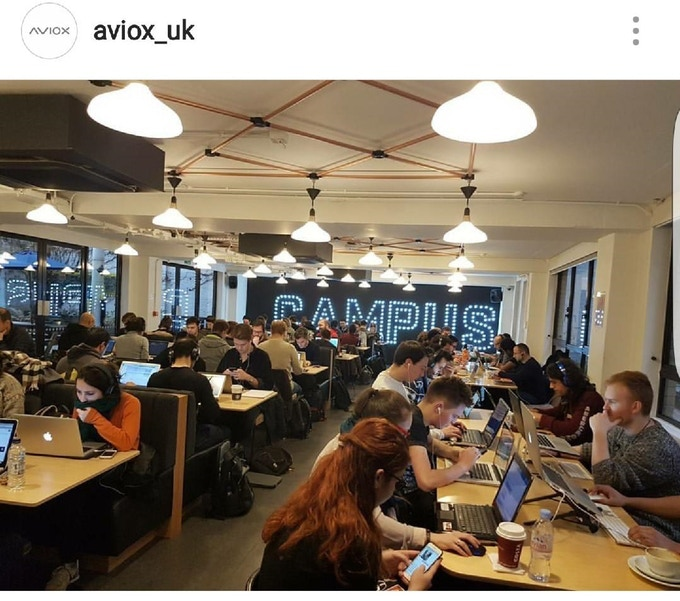Google Campus in London has been our base over the last year. It is a community full of start ups and early stage businesses