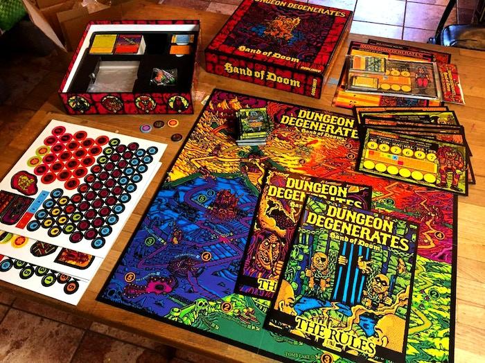 dungeon degenerates hand of doom fantasy board game by sean Äaberg