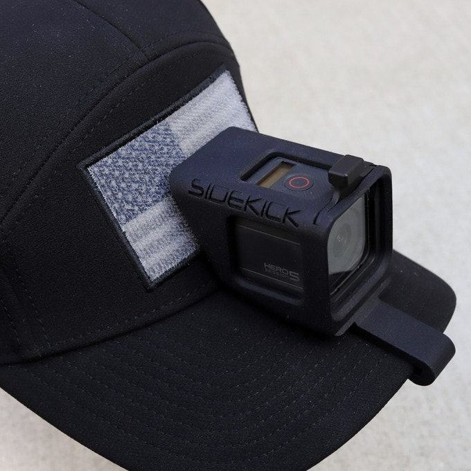 SIDEKICK POV Cap Mount for GoPro® HERO and HERO5 Session Mounted Using Velcro® to secure mount