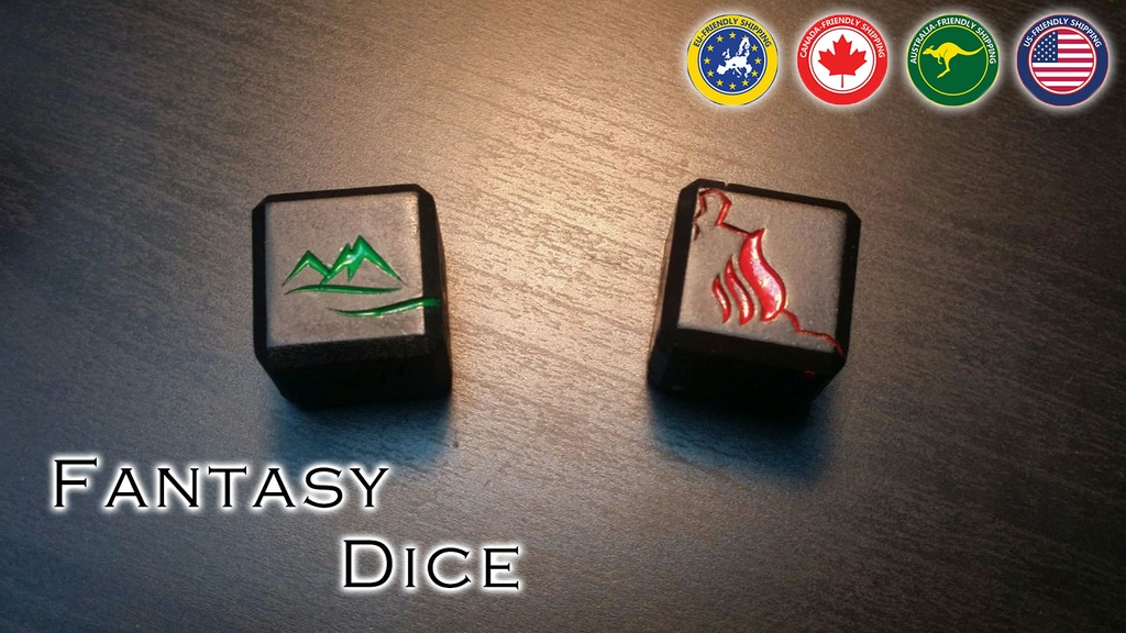 Project image for Fantasy Dices - Perfect Collection for RPG Board Gamers (Suspended)
