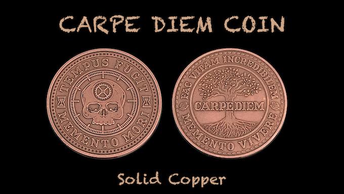 Carpe Diem Coin in Solid Copper