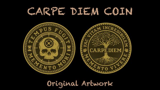 New Carpe Diem Coin Design Original Artwork