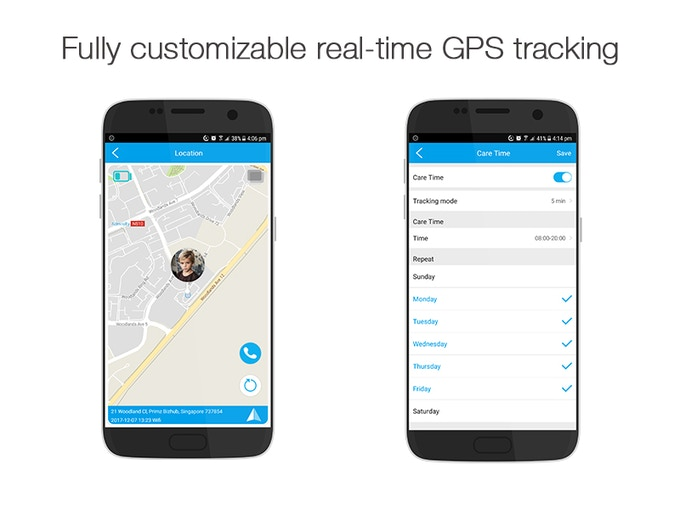 Set GPS tracking frequency through your smartphone