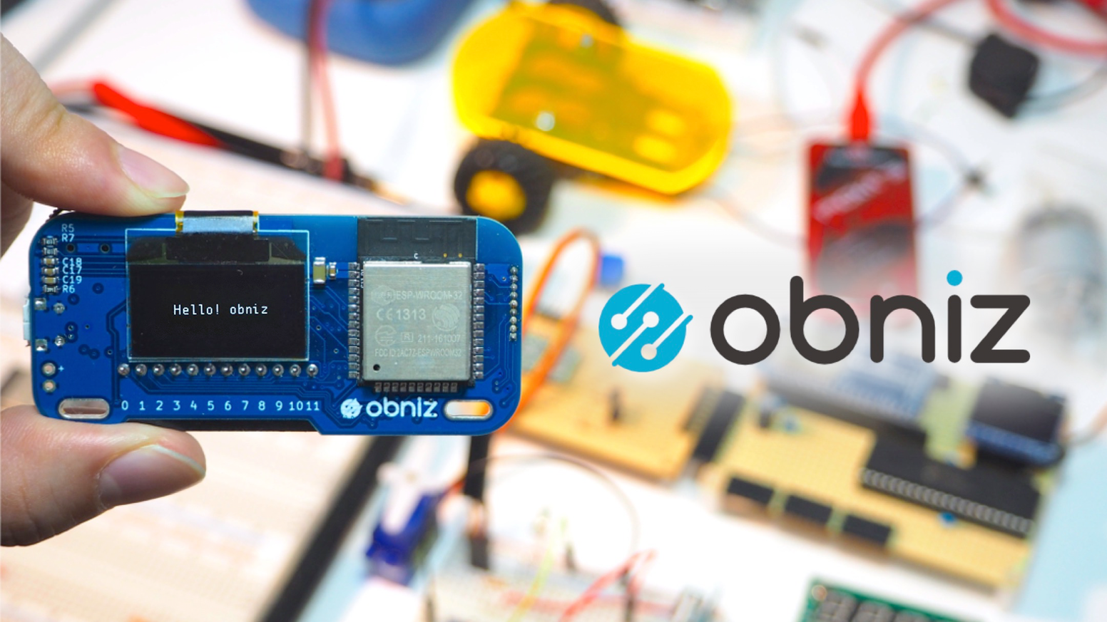 The World's first development board which is available as APIs on Cloud. Use obniz from your Html via Cloud.