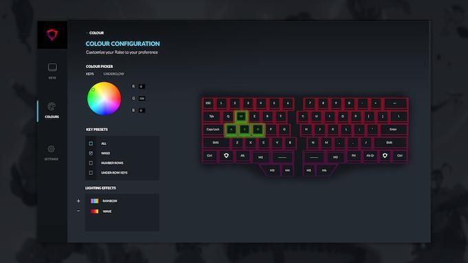 Raise's configurator prototype