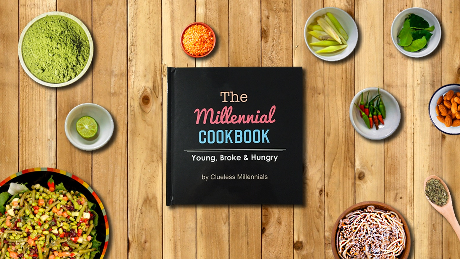 The millennial cookbook young broke hungry by clueless the millennial cookbook is an underappreciated hard done by hardcover recipe book made by millennials forumfinder Image collections