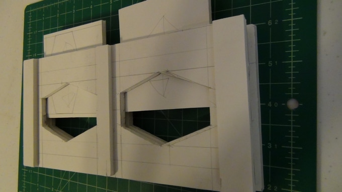 Post gluing of a larger section with windows