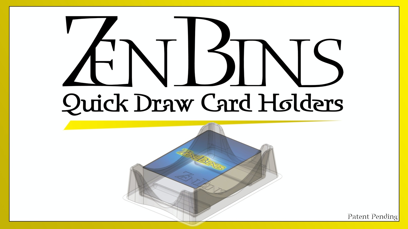 Playable Deck Holders - Easy Draw Standard & Mini American Cards.  Thick Plastic to Safely Transport Decks and Organize Game Boxes.