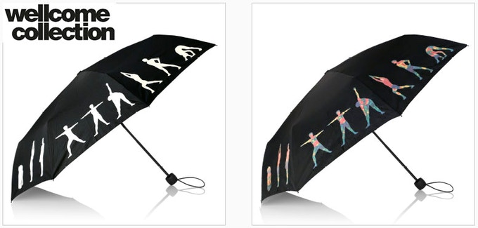 Exclusive Yoga Adult Umbrella for the Wellcome Collection, a modern London Museum exploring Human, Science and Art