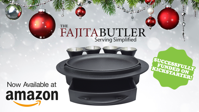 An innovative way to serve and enjoy fajitas and more at home with no more clutter and easy clean-up!