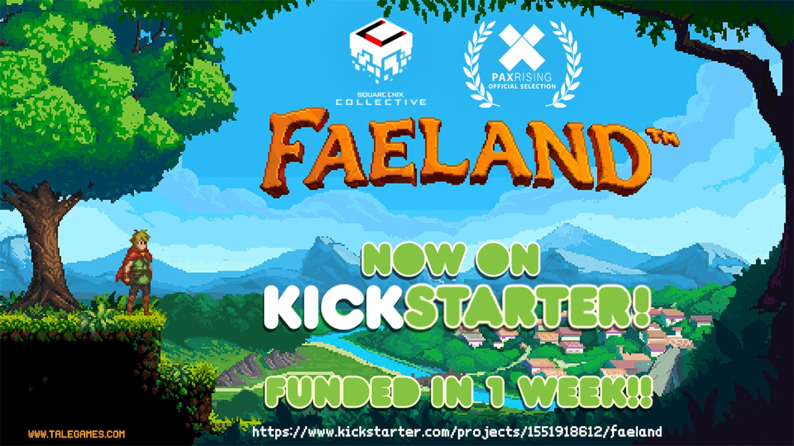 Faeland is a Metroidvania Action Adventure RPG in pixel art, inspired by the 8-bit classics.
