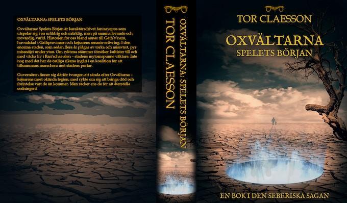 Ett utkast till omslag för boken