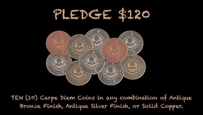 Reward for $120 Pledge