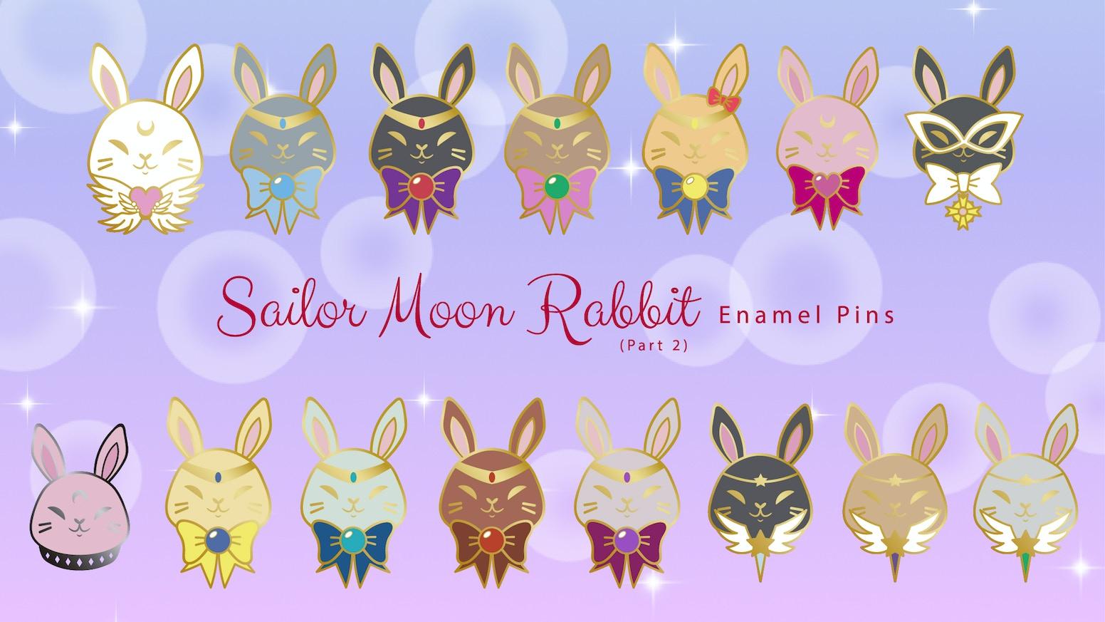 Sailor Moon Rabbit Enamel Pins (Part 2)