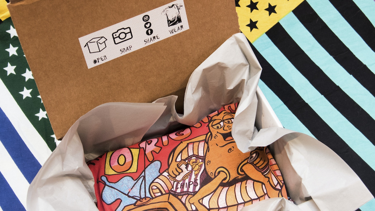 Vintage T-Shirt Monthly Subscription Box