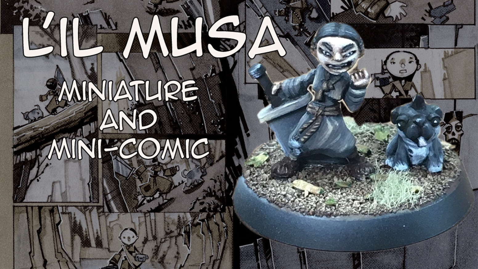 I'm creating a quality gaming miniature and  accompanying introductory mini-comic inspired by Joseon era mythology.