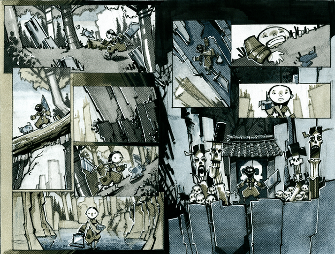 Mini-comic Pages Four and Five