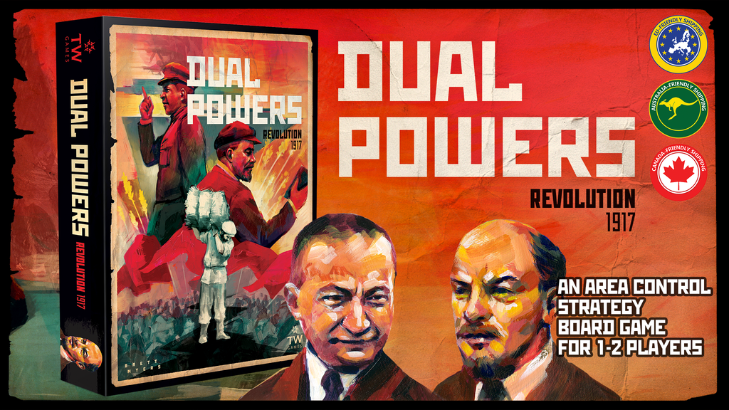 Dual Powers: Revolution 1917 - A Board Game for 1-2 Players project video thumbnail
