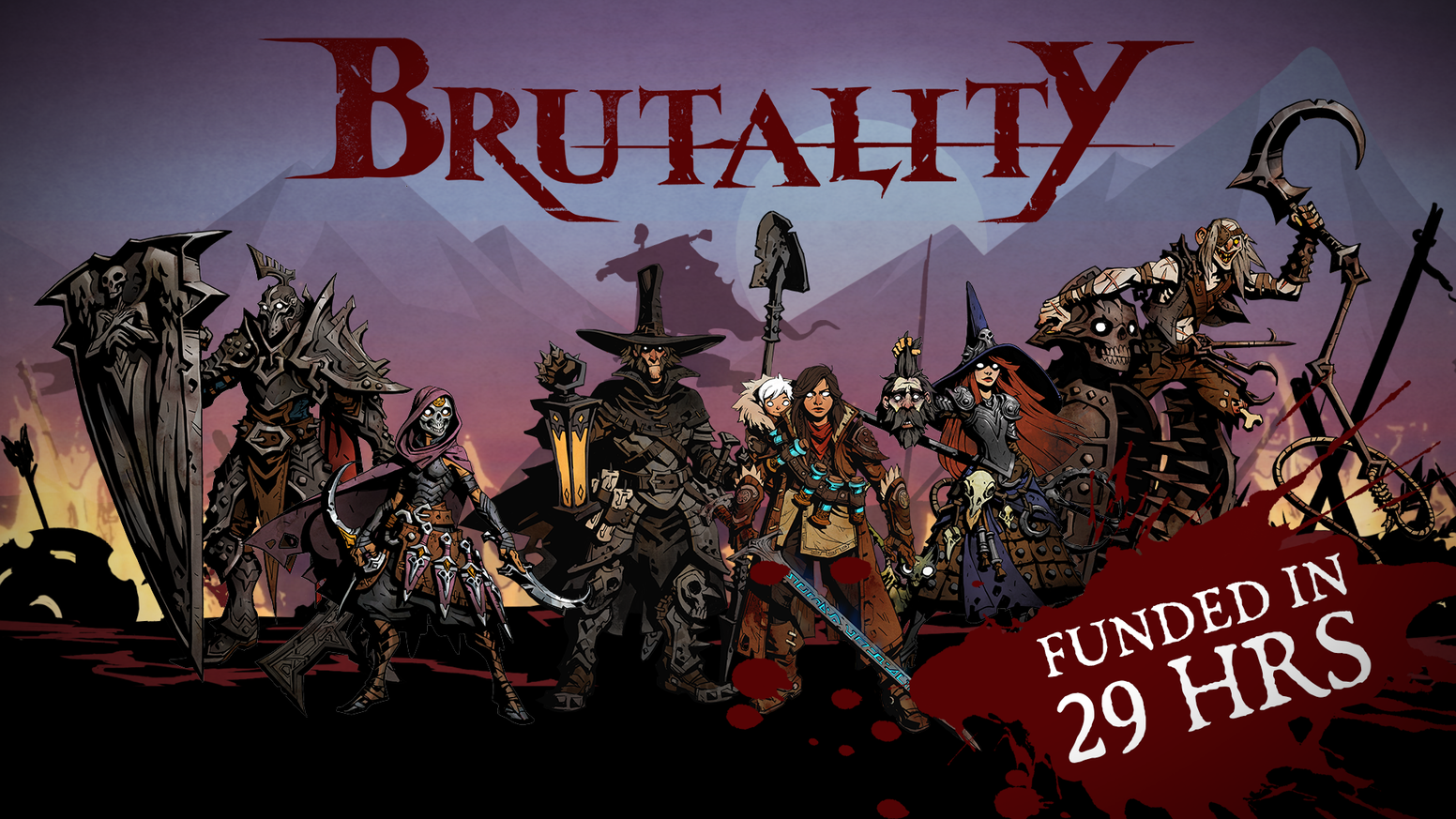 Brutality is a medieval combat brawler board game for 2-4 players. Pick 2 heroes and go to war against 2 bloodthirsty rivals.