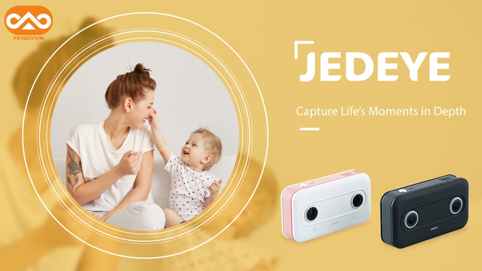 JEDEYE, a 3D stereo camera which captures the precious moments in 3D and record life's moments in depth. Take it anywhere in anytime.