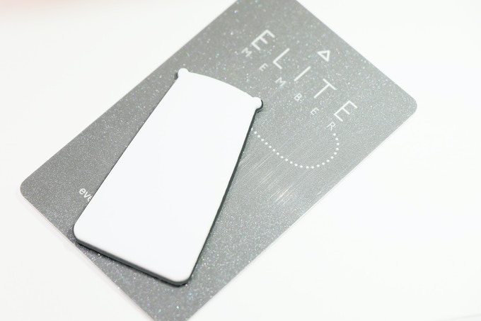 Size comparison to a credit card