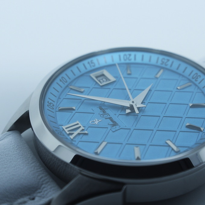 Turquoise MD-P5871/ White Italian Leather Strap