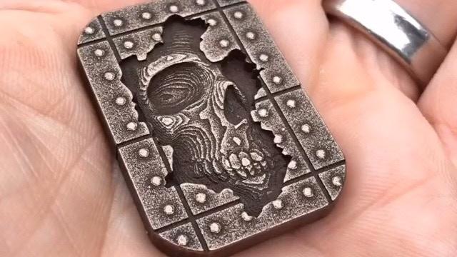 Bronze Steel Memento Mori Stone