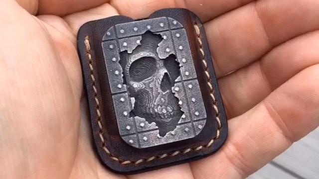 Gray Steel Memento Mori Stone