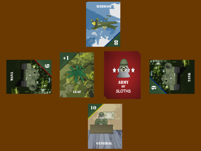 Layout of a round for a game of Leaf Conquerors!