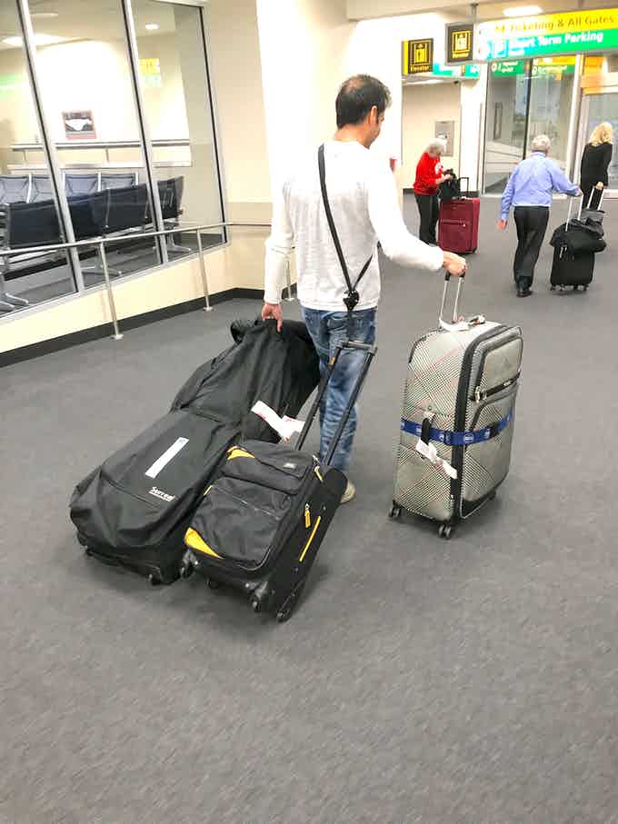 Save your money and time on airport carts. Now you can pull two check-in bags and your carry-on at the same time.