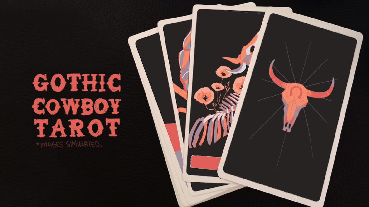 A 40 card tarot deck themed in cowboy superstition. This deck comes with an explanation of each card, and a custom spread.